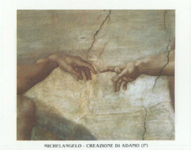 "FAR31344"" Michelangelo - The Creation of Adam"" (21 X 32)"