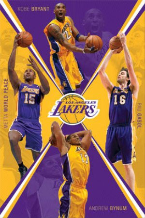 "SPT33327 ""LA Lakers - Team 11/12"" (22 X 34)"