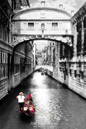 Venice Canal Boat Ride (24x36) - ARC32645