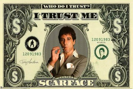 "FLM00081"" Scarface - Money"" (24 X 36)"