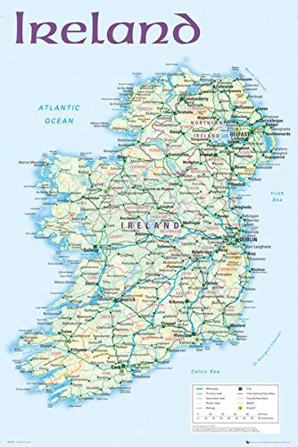NAT90031 - Ireland Map 24x36
