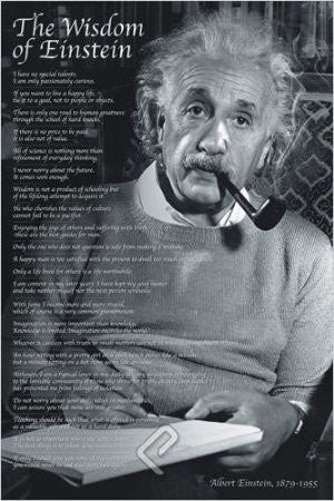 "ISP57006 ""Einstein - The Wisdom of a Genius"" (24 x 36)"