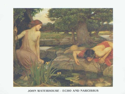 FAR32197 Waterhouse - 'Echo and Narcissus' (20 X 28)