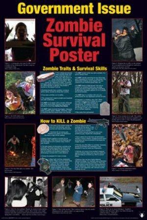 Zombie Survival Guide - Government Issue (24x36) - HMR00502