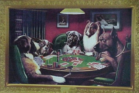 Coolidge Dogs Playing Poker (24x36) - HMR00023