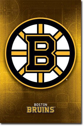 SPT44536 Boston Bruins Logo 24x36