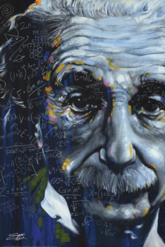 "Stephen Fishwick - It's All Relative"" (Einstein) (18x24) - CANV00012"