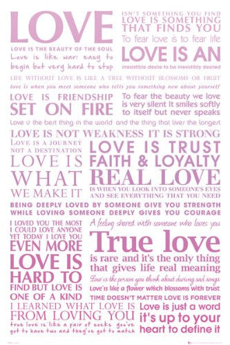 ISP90022 Love Quotes 24x36