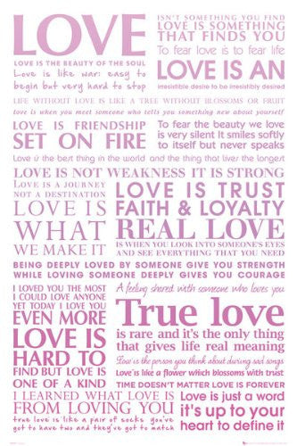 Love Quotes (24x36) - ISP90022