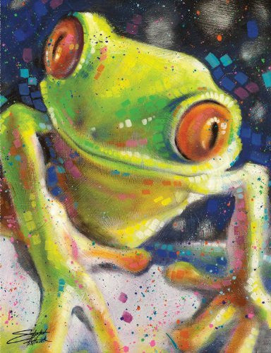 "Stephen Fishwick - ""Tropical Tree Frog"" (18x24) - CANV00018"