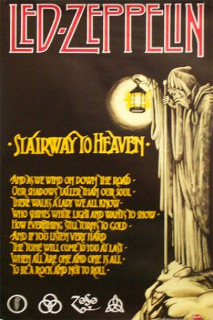 Led Zeppelin - Stairway to Heaven (22x34) - MUS00665