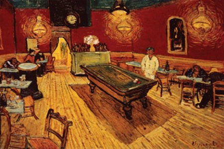 "Vincent Van Gogh - 'Night Cafe with Pool Table"" (24x36) - FAR00008"