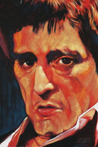 "Stephen Fishwick - ""Scarface"" (18x24) - CANV00019"