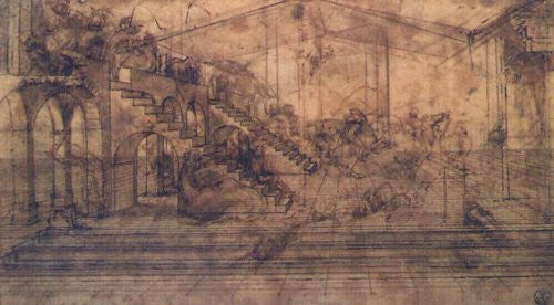 Leonardo DiVinci - Architectural Structure (14x20) - FAR31787