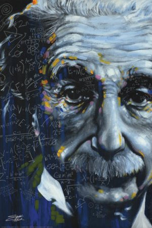 "Stephen Fishwick - It's All Relative"" (Einstein) (24x36) - ISP09808"