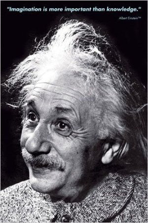 "ISP57008 ""Einstein - Imagination"" (24 x 36)"