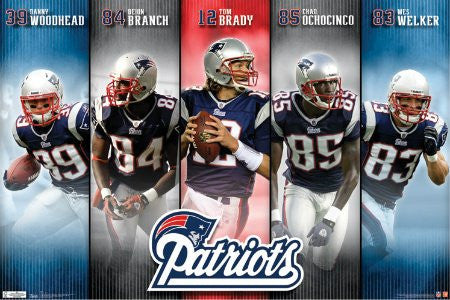 "SPT35669"" New England Patriots - Five"" (22 X 34)"