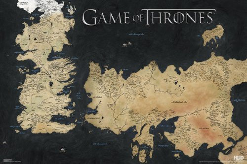 Game of Thrones - Map of Westeros (24x36) - FLM91048