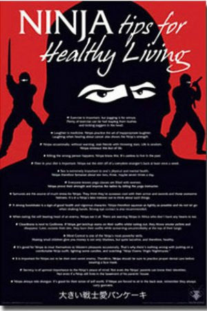 "Ninja Tips List for Healthy Living"" (24x36) - HMR00170"
