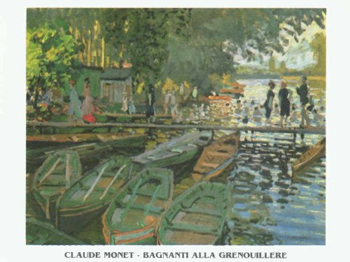 FAR31882 Monet, C. - 'Bathers at La Grenouillere' (23 X 31)