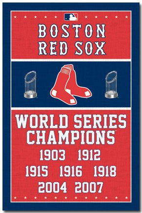 Boston Red Sox World Series Banner (24x36) - SPT44541