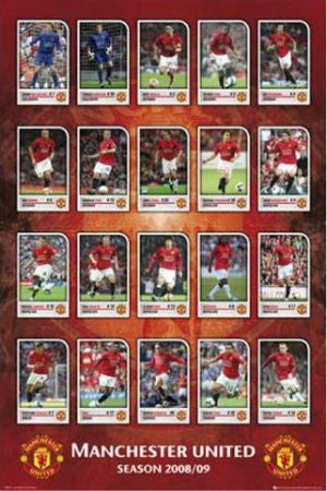 "SPT03222"" Manchester United - Squad Profiles"" (24 X 36)"