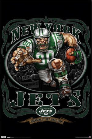 "SPT33336 ""New York Jets - Running Back"" (22 X 34)"