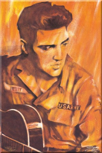 "Stephen Fishwick - ""Elvis Presley US Army"" (18x24) - CANV00022"