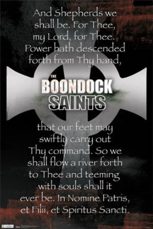 "FLM56024 ""Boondock Saints - Cross Prayer"" (22 X 34)"