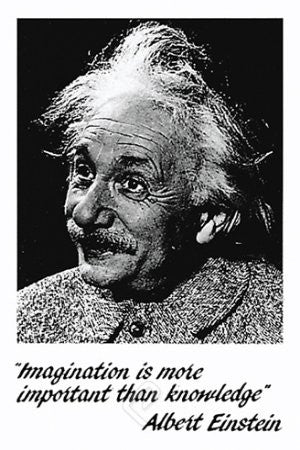 "ISP57005 ""Einstein - Imagination white"" (24 x 36)"
