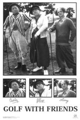 "Three Stooges ""Golf With Your Friends"" (24x36) - FLM33064"