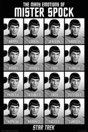 "FLM70030 ""Star Trek - Spock Emotions"" (24 X 36)"