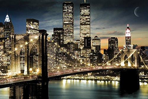 New York Night Skyline (24x36) - ARC32680