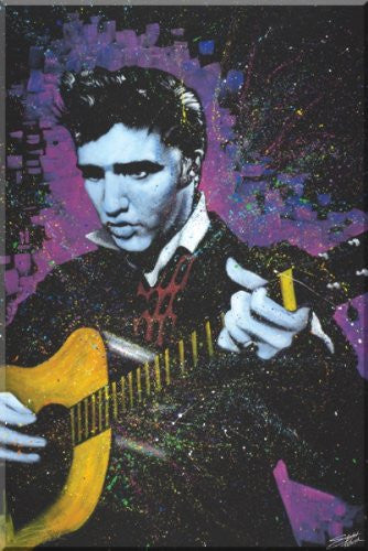 "Stephen Fishwick - ""The Young King - Elvis Presley""(18x24) - CANV00017"