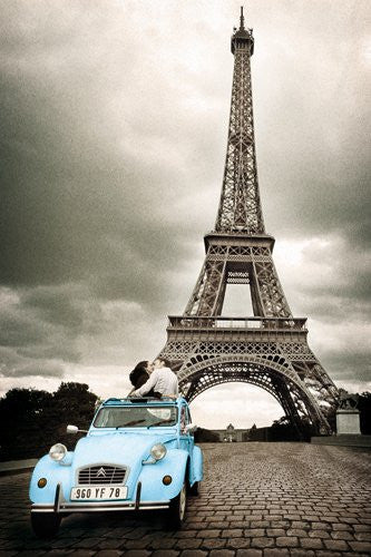 Paris - Romance (Blue VW) (24x36) - FAR00042