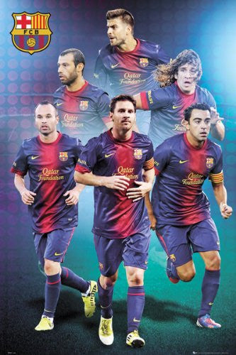 SPT44528 Barcelona Players 24x36