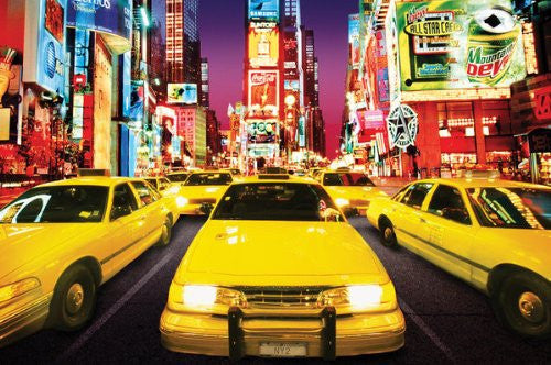 Times Square Taxis (24x36) - ARC32683
