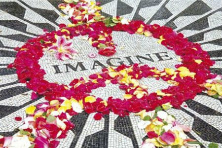 "John Lennon - ""Imagine Memorial"" (24x36) - MUS00656"