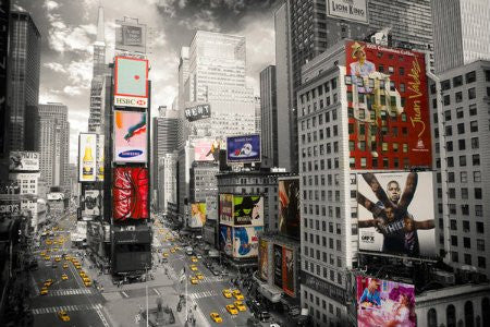 "NAT05100 ""New York - Times Square Ariel"" (24 X 36)"