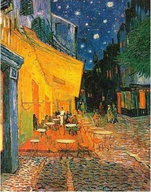 "FAR60005"" Vincent Van Gogh - Cafe Terrace at Night"" (11 X 14)"