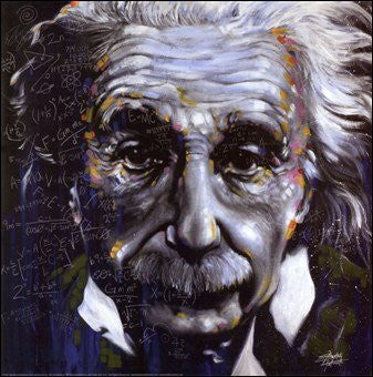 "Stephen Fishwick - ""It's All Relative"" (Albert Einstein) (12x12) - CANV00002"