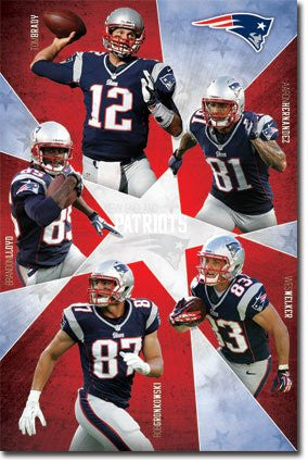 SPT33374 New England Patriots - Team 12 (22 X 34)