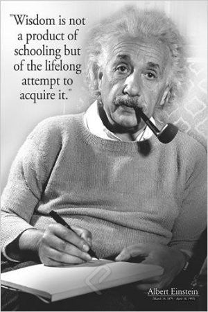 "Einstein - ""Wisdom is not..."" (24x36) - ISP57002"
