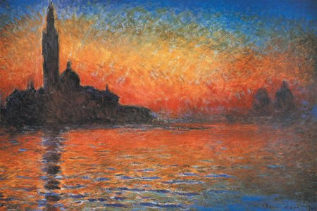 Claude Monet - 'Sunset in Venice, 1908' (11x14) - FAR60007
