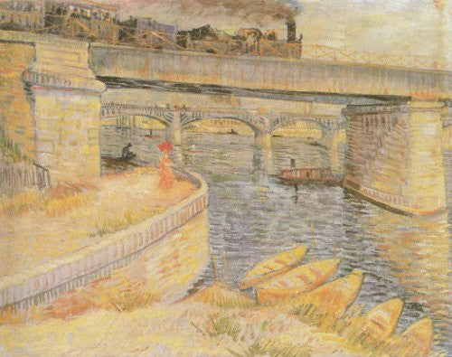 FAR31084 Van Gogh, V. - 'The Asnieres Bridge' (23 X 31)