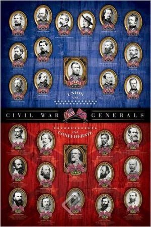 "ISP57012 ""Civil War Generals - Red &Blue"" (24 x 36)"