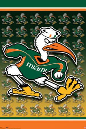 "SPT33351 ""NCAA - University of Miami"" (22 X 34)"