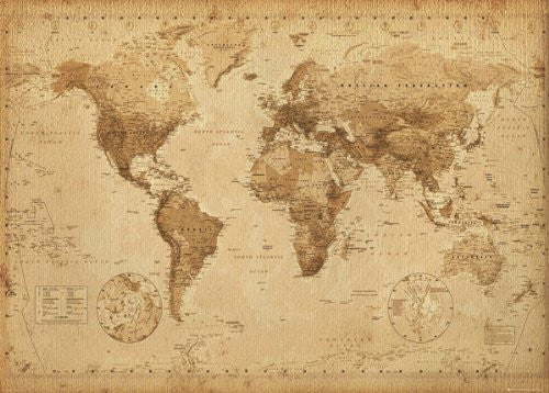 NAT33132 Antique Map 24X36