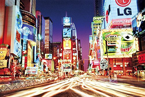 "New York - Times Square Lights (24"" x 36"")"