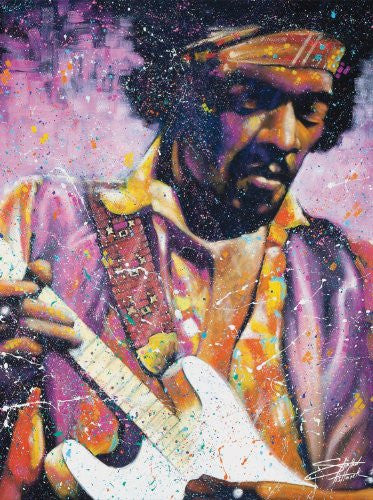 "Stephen Fishwick - ""The Watchtower (Jimi Hendrix)"" (18x24) - CANV00004"
